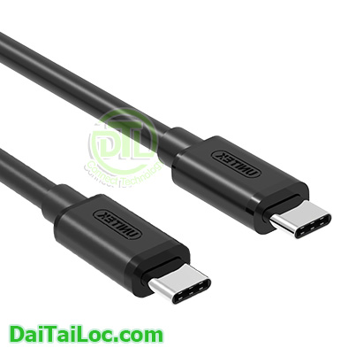 Cable usb type c male male Unitek Y C 477BK