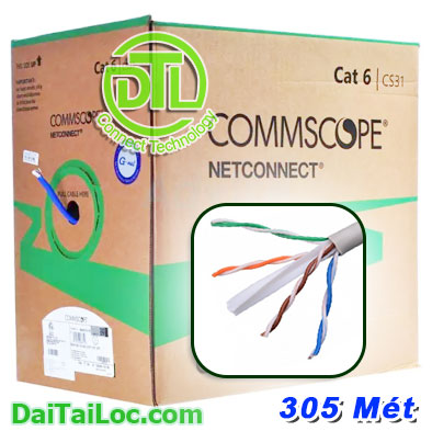 Cáp Commscope cat6 UTP Cable 23 AWG