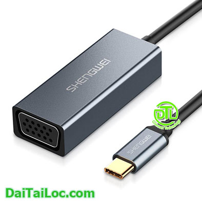 Cáp USB Type C to VGA Shengwei DS-201s
